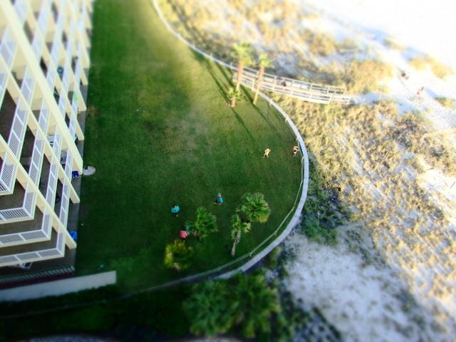 view of condo beach front, orange beach alabama, the greener bench blog