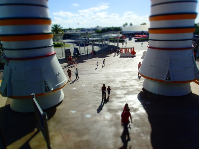 view of Visitor's complex from Space Shuttle Atlantis, exhibit building, Kennedy Space Center, Florida, the greener bench blog