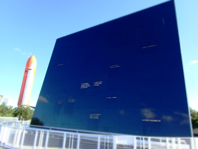 Astronaut memorial, kennedy space center visitors complex, florida, the greener bench blog