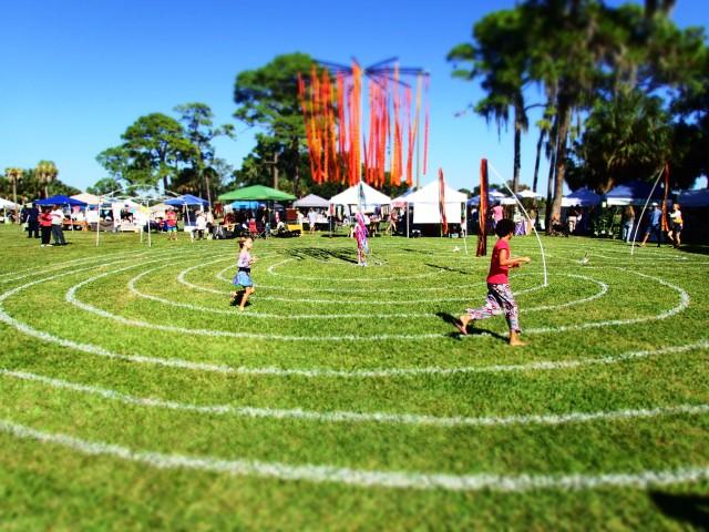 peace labyrinth, circus mcgurkis, st Petersburg, florida, the greener bench blog