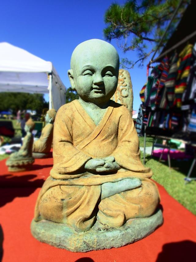 baby Buddha statue, circus mcgurkis, st Petersburg, florida, the greener bench blog
