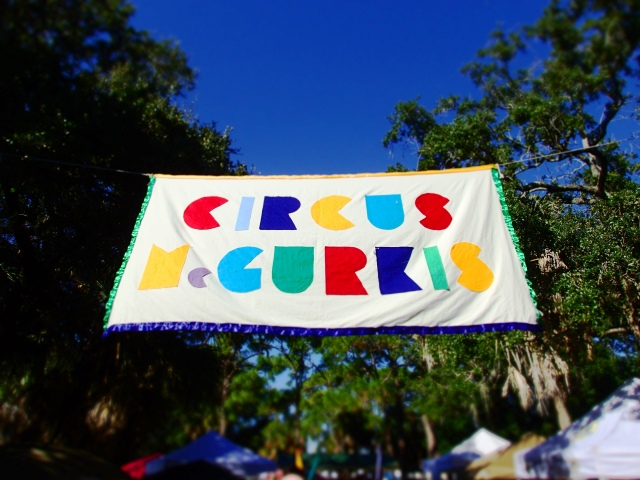 circus mcgurkis sign, st Petersburg fair, florida, the greener bench blog